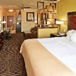 Our King Suite offers a flat screen TV, microwave, mini-refrigerator, ceiling fan, sofa sleeper,