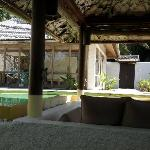 Pool Villa with garden, view from day-bed
