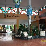This is the lobby at Los Corales