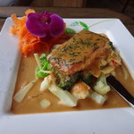 Salmon in Panang Curry Sauce