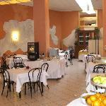 Blick ins Hotelrestaurant