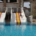 Slides at the seawater pool
