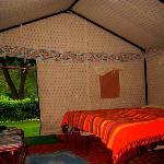 Swiss Cottage Tent interior