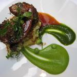 Lamb w/peas & chutney