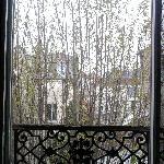 Blick aus dem Fenster, geradeaus