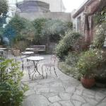 nice courtyard out back