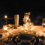 Private dinner on my deck