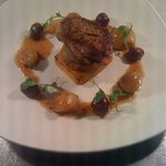 beef fillet Rossini with confit shallots and blackcherry jus