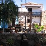 Breakfast garden next to restaurant,