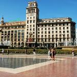 Catalunya Square and a beautiful day!