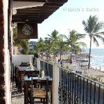 Balcony seating at Murphy's looks out over the Malecon