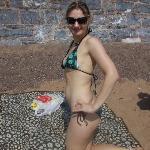 vita on beach
