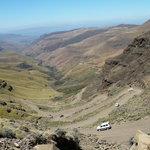 Going down Sani Pass