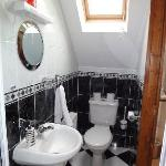 Our cute bathroom! (Shower is located just behind where the picture is taken)
