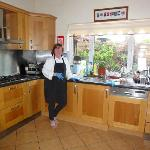 Eithne making us another delicious breakfast!