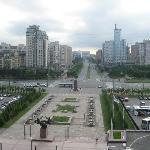 View from the hotel towards St Petersburg