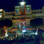 Rajdhani hotel at night