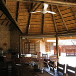 This is the covered outdoor eating area/restaurant