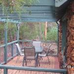 rear of the cottage is right in the bush