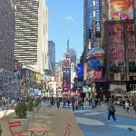 times square, pedestrianised area