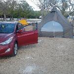 Our campsite at Sugarloaf key KOA