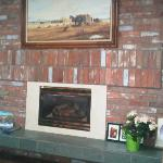 Fireplace in the main living room