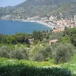Levanto from the trail to Monterrosso