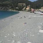 The beach in  Bonassola