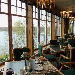 Delightful view of Lake Geneva in The Grandview Restaurant