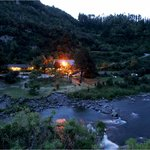 River Valley Lodge, evening beside the Rangitikei River