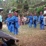 Nepali children doing the kurkuri dance