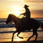 Sunset Ride on Horseback with Rancho Chilamate