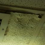 ceiling in bathroom caving in