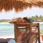 Falling asleep on the beach