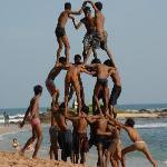 pyramide sur la plage