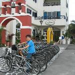 free use of bicycles for hotel guests