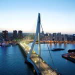 Rotterdam Skyline with the Erasmus Bridge