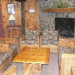 One of our many lobbies, with fireplaces!