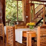 Inside the restaurant of the Dragonfly Inn