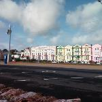 The hotel from the seafront