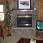 FIreplace in the condo (we like the tree and always have it on)