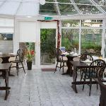 Lovely sunny conservatory where breakfast was served