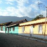 les maisons colorées du village