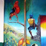 fesque murale dans le village