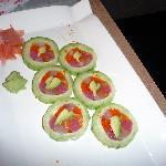 Sushi roll (we had already eaten some)