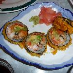 Sushi roll, we had already eaten a few bites