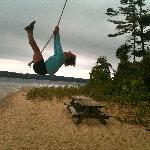 Me having fun on the island.