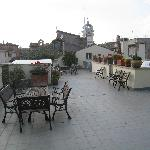 Portion of rooftop patio