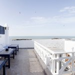 Our sunny roof terrace with wonderful views out over the Atlantic