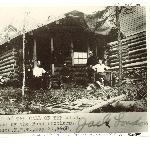 Jack London Cabin in 1898 south of Dawson City